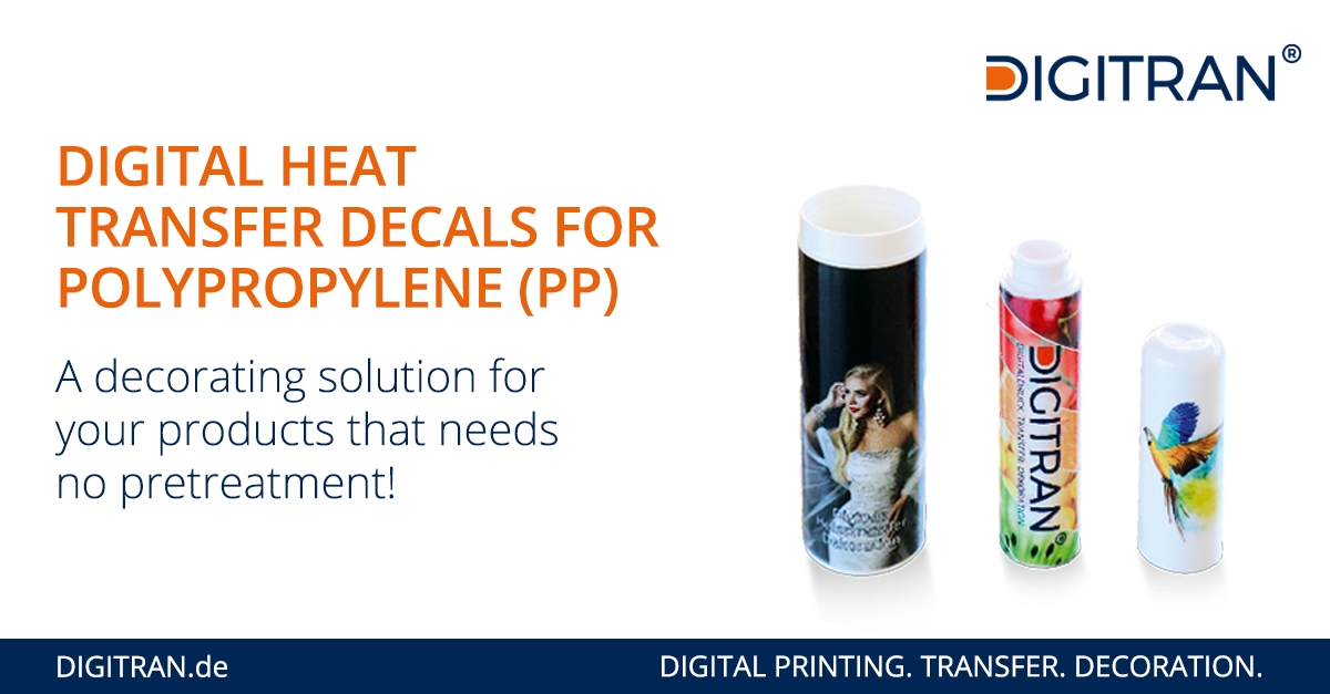 Heat Transfer Decals for untreated Polypropylene (PP)