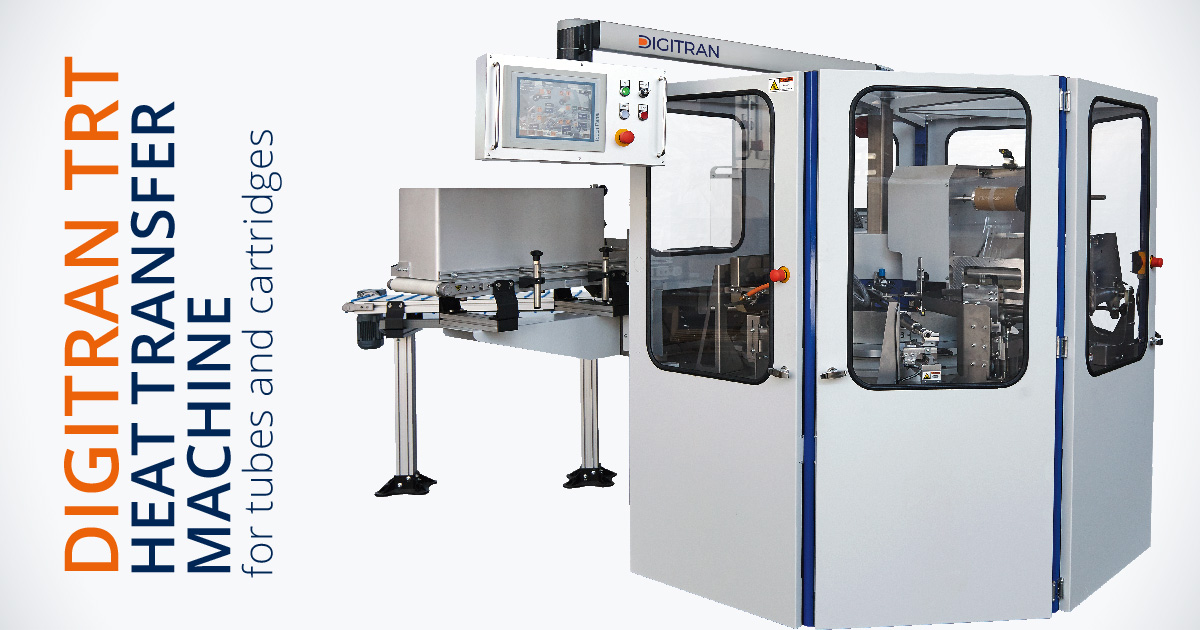 DIGITRAN TRT – Fully automatic heat transfer machine for cosmetic tubes and cartridges