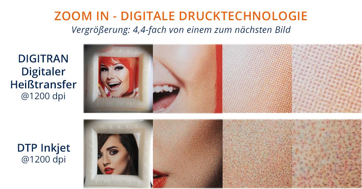 Hauttöne im Digitaldruck - 1200 dpi