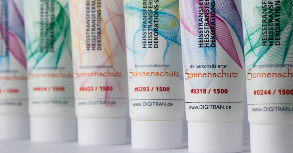 Serialized Cosmetic Tubes - Digital Heat Transfer